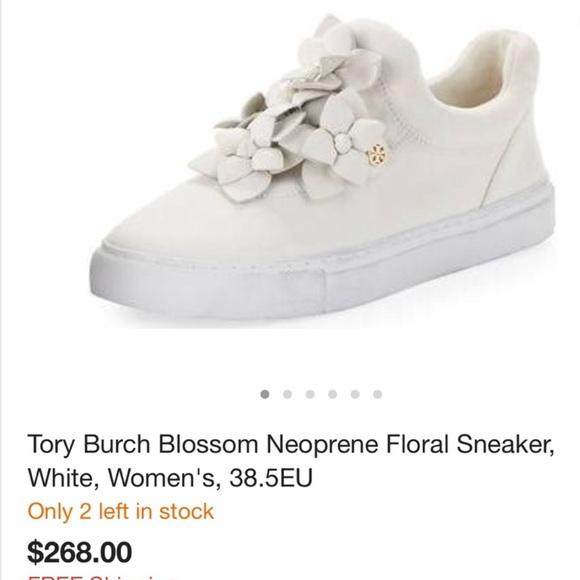 e2ec951f1e09d0 Tory Burch Blossom Neoprene Floral Sneaker. M 5aad3a58a825a68afa92113d